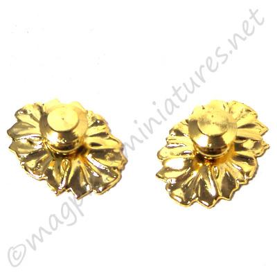 Brass Medallion Knob 2pc/pkg
