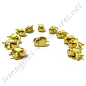 Brass Casters 12 pieces