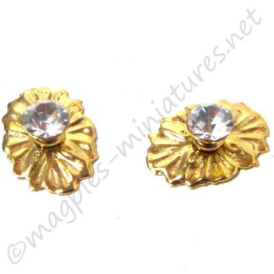Crystal Medallion Knob 2 pieces