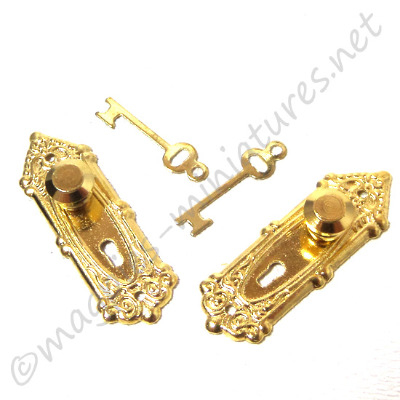 Brass Opreyland Knob & Key  2set/pk