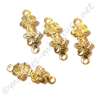 Double Flower Drawer Pull 4pc/pkg