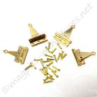 Brass T Hinge with Nails 4pc/pkg