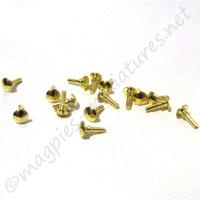 Brass Knob 16pc/pkg