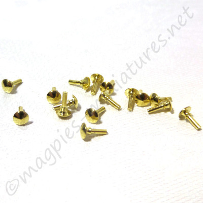 Brass Knob 16pc/pkg