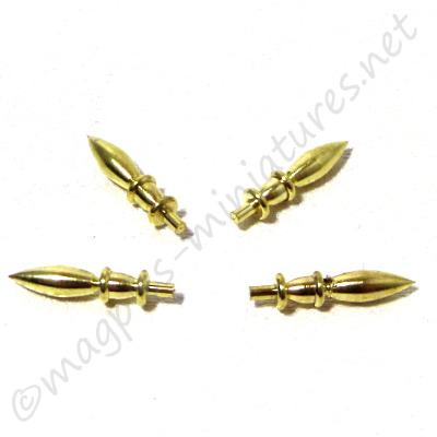 Brass Finial 4pc/pkg