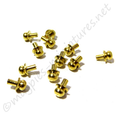 Brass Victorian Drawer Pull 12pc/pk
