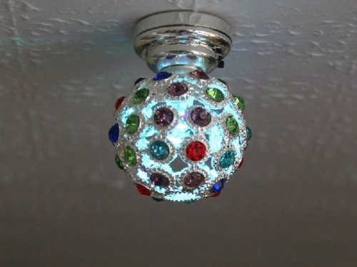 Disco Colour Changing LED ceiling lamp - Battery Powered (included)