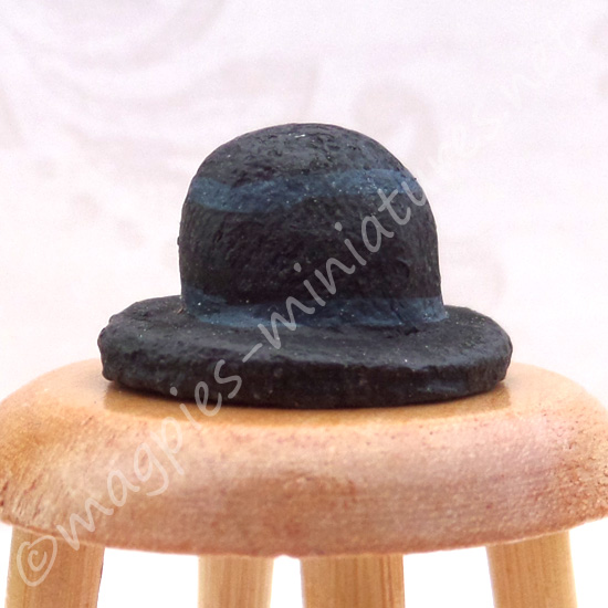 Black Bowler Hat  - 1:24 24th Scale