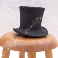 Grey Top Hat  - 1:24 24th Scale