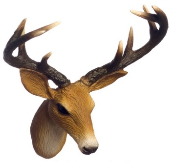 Wall Mount Deer Head Trophy-Highly Detailed