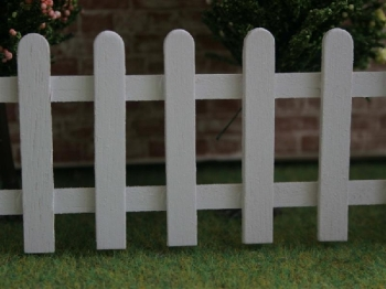White Wood Picket Fence