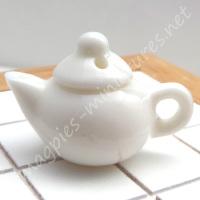 White Porcelain Teapot - Filled or Empty