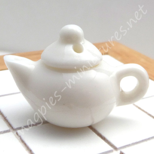 White Porcelain Teapot - Filled or Empty