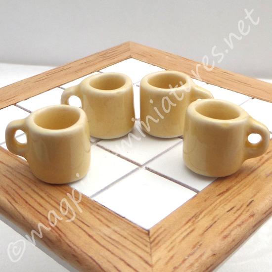 Mugs - Set of 4 yellow