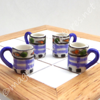 Blue Tea and Coffee Cups - Filled or Empty