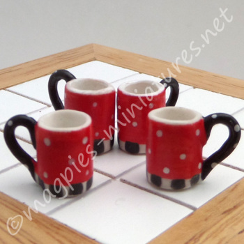Red Tea and Coffee Cups - Filled or Empty