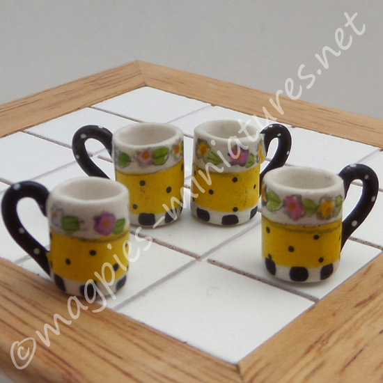 Yellow Tea and Coffee Cups - Filled or Empty