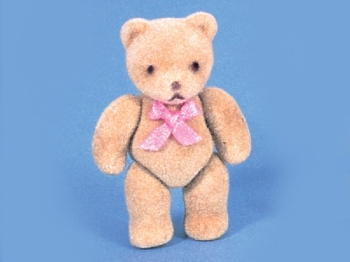 Flock Teddy - Pink Bow - Reduced!