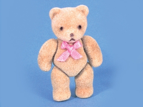 Flock Teddy - Pink Bow