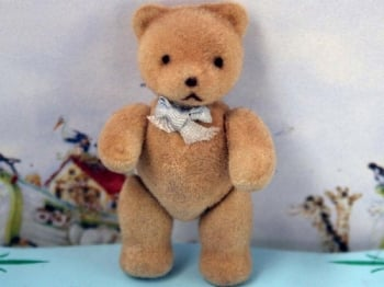 Flock Teddy - Blue Bow