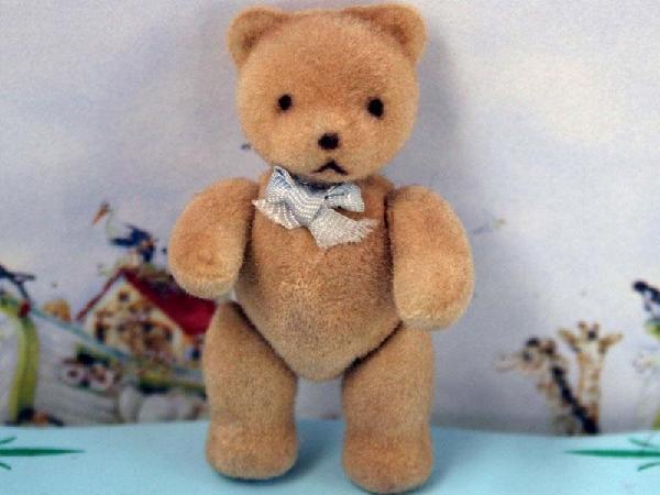 Flock Teddy - Blue Bow - Reduced!