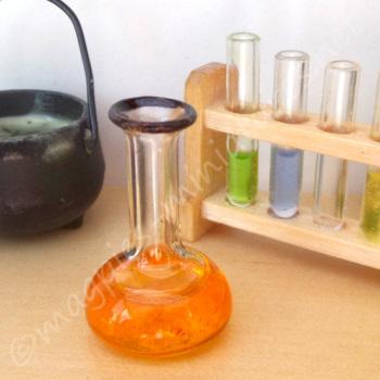 Chemist Flask - Halloween ORANGE/RED potion