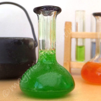Chemist Flask - Halloween GREEN potion