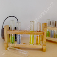 Resin Filled Test Tubes in rack - Halloween