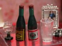 Beer and Wine Bottles - set of 2