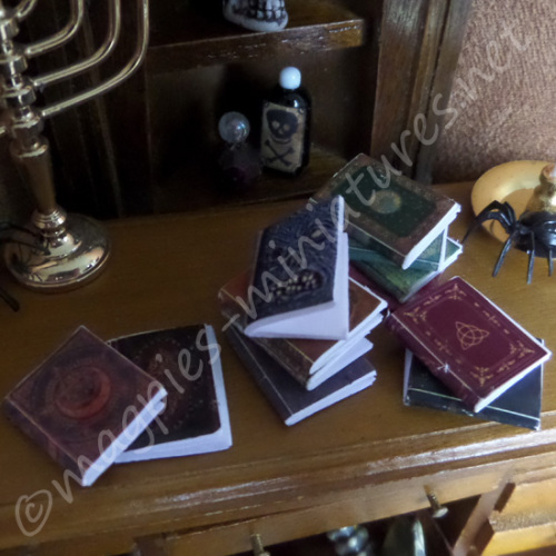 Set of 12 Spooky books - blank pages.