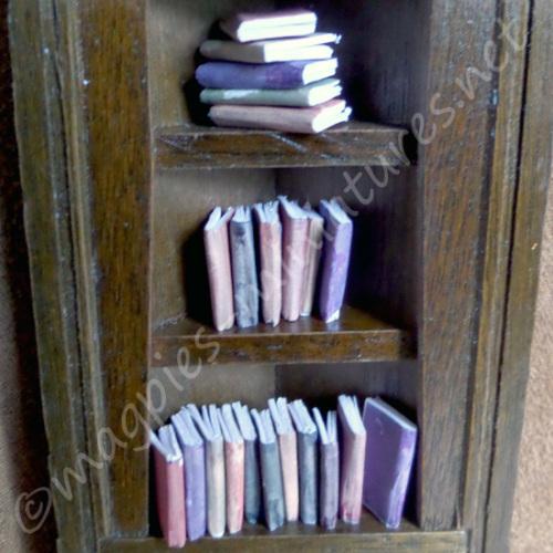 Set of 22 Vintage Style Shelf Filler Books
