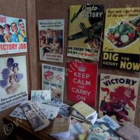 """Second World War posters, books, photographs set """"Keep Calm"""""""