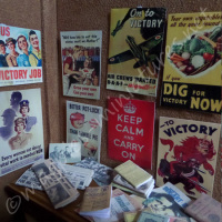 Second World War posters, books, photographs set