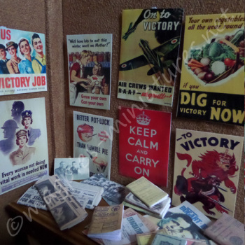"Second World War posters, books, photographs set ""Keep Calm"""