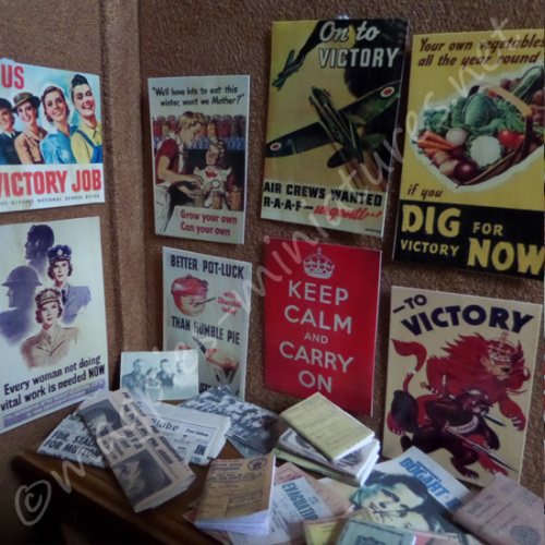 Second World War posters, books, photographs set