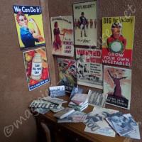 "Second World War posters, books, photographs set ""Together"""