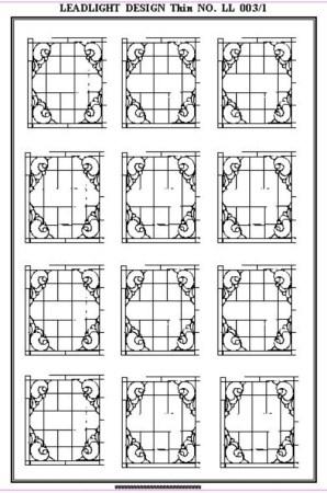 Ornate design Glazing Sheet