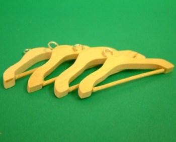4 Wooden coat hangers