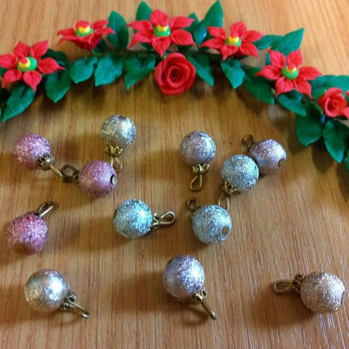 Christmas Baubles - Multi coloured - Pack of 12