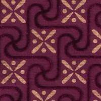 Red Square Flock Carpet
