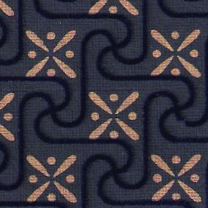 Blue Flock Squares Carpet