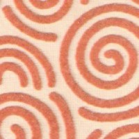 Beige  Swirl Flock Carpet