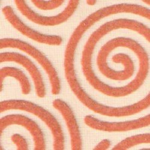 Beige  Swirl Flock Carpet