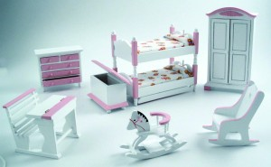 Pink Bunk Nursery Set