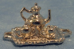 Silver Coloured Tea Set - Metal