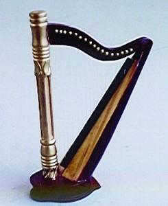 Harp Gilded Mahogany