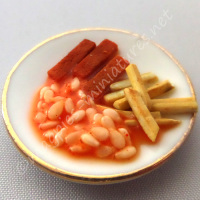 Fish Fingers, Chips and Beans Dinner