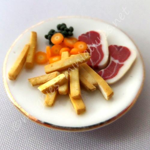Steak and Chips Dinner