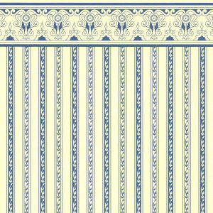 24th Scale Wallpaper Regency Stripe - Blue