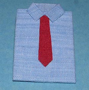 Shirt with Red Tie